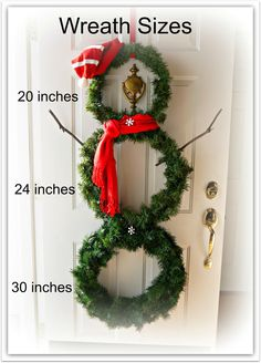 DIY Snowman Wreath - (Christmas, Winter & Valentine's Day) Just change the hat & scarf and keep it up all winter long!
