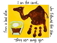 Handprint Nativity Animals--can you tell I like handprint art? Kids Crafts, Bible Crafts, Preschool Crafts, Art Crafts, Preschool Christmas, Christmas Activities, Christmas Holidays, Xmas, Christmas Deco