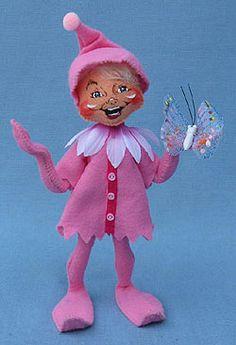 """Annalee 9"""" Pink Spring Elf - 201410"""