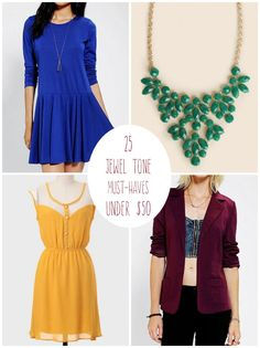 Step into fall with a gorgeous jewel tone closet to wear all season long...