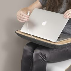 cable access at your fingertips convenient | LAPOD lap-desk with storage