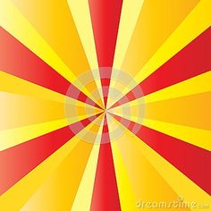 Sunrise background of Catalonia national flag red and yellow color striped banner. Painted shine star burst texture. Sunburst, rays, patriotic background. Abstract design poster template, vector