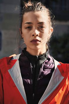 Answer winter's dare with layer after layer of warm Nike running gear // First: Element Sphere 1/2 Zip // Next: Aeroloft 800 Vest // Last: Shieldrunner Jacket