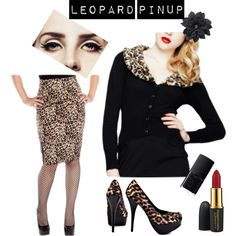 """Leopard PinUp"" by modern-grease on Polyvore"
