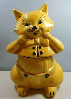 Dapper Cat cookie jar by Doranne of California...Mom gave me this one in 1982