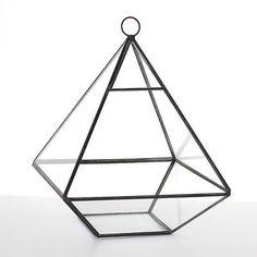 Geometric-Pyramid-Shape-Glass-Metal-Plant-Terrarium-Mini-Glasshouse-Planter