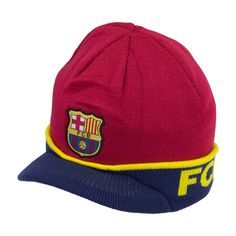 2e40e500867 FC Barcelona Visor Blue Beanie Cap Hat By Rhinox  Rhinox  FCBarcelona Visor  Beanie