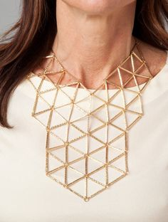 Geometric Statement Necklace by Lori\ Jewelry Box, Jewelry Making, Jewellery, Geometric Necklace, Wedding Trends, Gold Necklace, Rose Gold, My Style, Banana
