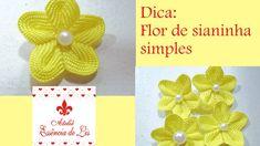 Dica: Flor de sianinha simples - Ateliê Essência de Lis