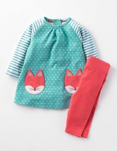 BODEN 2 PIECE PLAY SET AFTERNOON TEA OR WALK IN THE PARK TUNIC /& LEGGINGS NEW