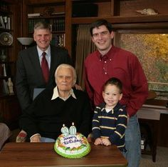 4 William Franklin Graham's - (l to r) Franklin, Billy, Will, Quinn
