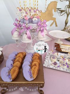 Loving the sweet treats at this Carousel Birthday Party! See more party ideas and share yours at CatchMyParty.com