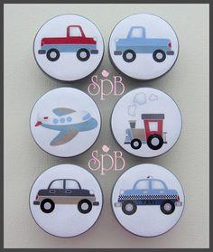 Transportation knobs  Kids Dresser Knobs  by SweetPetitesBoutique