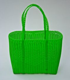Woven Guatemalan Bright Green Plastic Market by HandcraftGuatemala