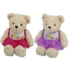 16 inch Dressy Soft Teddy Plush Assortment, Assorted