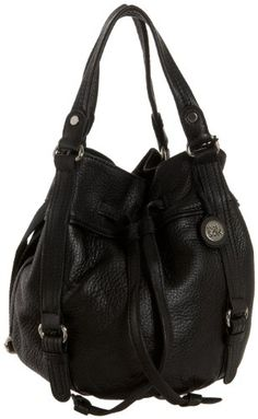 $148.00 The SAK Kedzie Drawstring Cross-Body,Black,one size - You'll love the compact convenience of The Sak Kedzie Drawstring handbag. Surprisingly roomy, this women's bucket bag has a rich, supple leather exterior and a drawstring top, finished with a magnetic snap for added security. Interior pockets organize the essentials, while a flat bottom keeps the bag from tipping over. The Sak Kedzie Dr ...