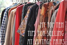 tips for selling at vintage fairs