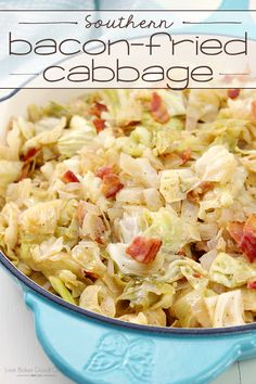 You'll want to make this Southern Bacon-Fried Cabbage again and again! Its hard to believe that such simple ingredients could result in such a flavorful and delicious side dish!