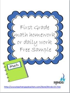 Daily Math Work- Common Core Aligned= 1st grade freebie!!  Check this out!!!!