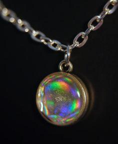 holographische Harz Charm Halskette