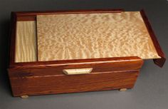 Cocobolo Jewelry Box with Secret Compartment by watswood on Etsy, $650.00