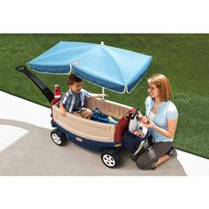 Little Tikes Deluxe Ride & Relax Wagon with Umbrella $94.97