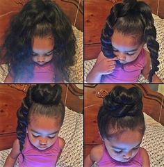 nice quick pin up for young girls | natural hair