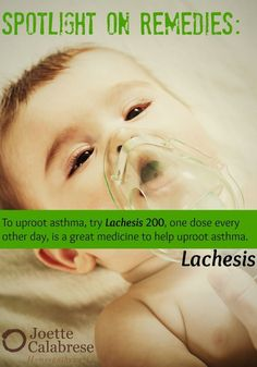 Homeopathic recommendations for asthma. ~joettecalabrese.com