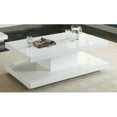 Orren Ellis Wardell Pedestal Coffee Table with Storage Color: White Pedestal Coffee Table, Cool Coffee Tables, Coffee Table With Storage, Centre Table Design, Tea Table Design, Centre Table Living Room, Center Table, Design Furniture, Luxury Furniture