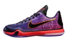0014e5dbf871 Nike Kobe 10 GS Hero Color Black Chamber Purple-Deep Red Style Code
