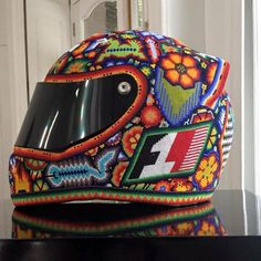 18 Huichol artisans spent four months decorating this Formula 1 car with over 5 million beads.