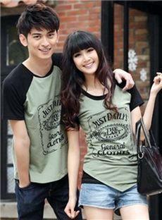 Smart T Shirt Irregular Couple T Shirt