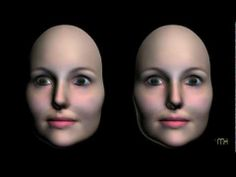 A 3D stereoscopic (cross-eye) movie of a rotating convex hollow female mask. Visual illusion.