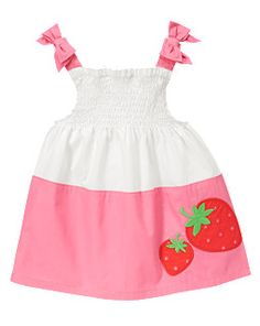 Strawberry Colorblock Smocked Top