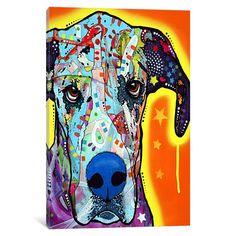 iCanvas Great Dane by Dean Russo Canvas Print