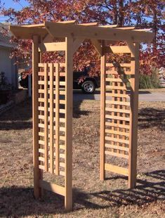NEW CEDAR WOOD CLASSIC GARDEN ARBOR PERGOLA ARCH ARBORS ENTRY WAY #ThreemanProducts
