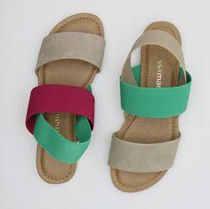 sandália rasteira - summer shoes - color - cores - Verão 2016 - Ref. 15-16957 | 15-16907