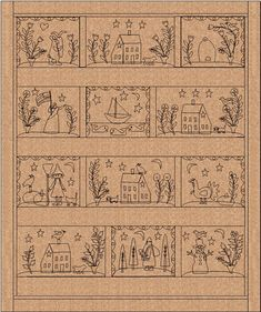 Primitive designs - great for a rug or hanging or even punch needle - Jan Patek Quilts: March 2011
