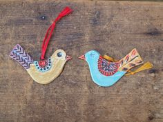 Christmas Ornaments READY TO SHIP Pottery Ornaments Love Birds Ornament Set of 2 Ornaments Ceramic Ornament Tree Trim Gift for Couple by romyandclare on Etsy https://www.etsy.com/listing/119476145/christmas-ornaments-ready-to-ship