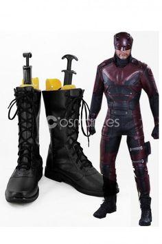 Daredevil Matt Murdock Cosplay Boots Miku Cosplay, Cosplay Wigs, Cosplay Costumes, Daredevil Matt Murdock, Marvel's Daredevil, Daredevil Cosplay, Cosplay Boots, Magical Girl, Dress Making