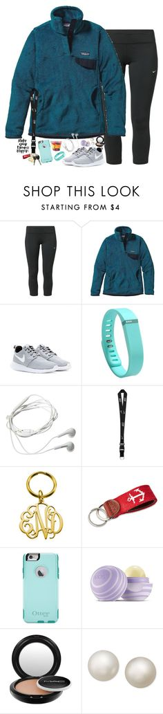 """Make your dreams happen!"" by smbprep ❤ liked on Polyvore featuring NIKE, Patagonia, Fitbit, Samsung, Smathers & Branson, OtterBox, Eos, MAC Cosmetics and R.H. Macy's & Co."