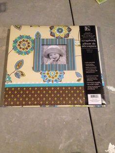 K&Company 12 x 12 scrapbook/memory album Turquoise floral NEW #KCompany