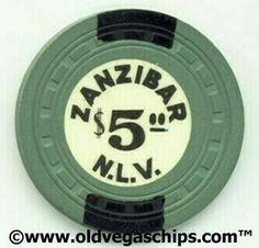 Las Vegas Zanzibar $5 Casino Chip from Pete Rizzo's www.oldvegaschips.com
