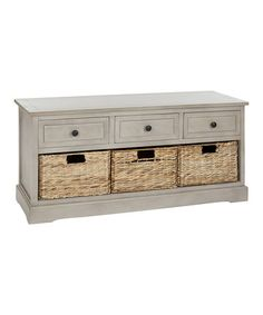 Would love something similar to this piece I found on Zulily...but I'd like to spend a LOT less than $225!! ((kvg)) Look at this #zulilyfind! Gray Abby Three-Drawer Storage Unit #zulilyfinds