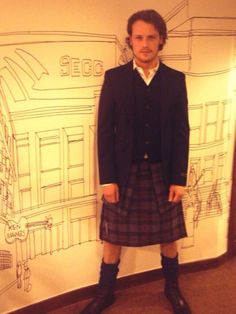 Sam Heughan at BAFTA - he will play Jamie Fraser in the new Outlander TV Show on Starz... He's perfect!!