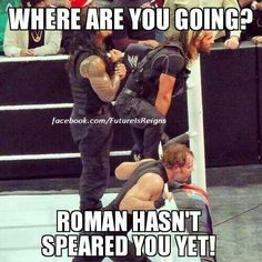 - wwe & wwf News Funny Wrestling, Wwe Funny, Watch Wrestling, Funny Jokes, Raw Wrestling, Le Shield, The Shield Wwe, Wwe Quotes, Roman Reigns Dean Ambrose