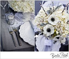 Silver and Cream winter wedding colors