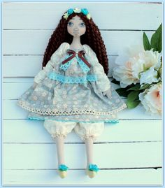 fabric soft doll Julia rag doll cloth doll мягкая от MyShopDolls
