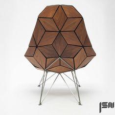 JSN design assembles diamond-shaped tiles into chair | more on: http://www.pinterest.com/AnkAdesign/collection-6/