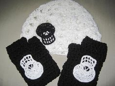 skull glove and hat set by MadewithlovebyFatima on Etsy, $30.00